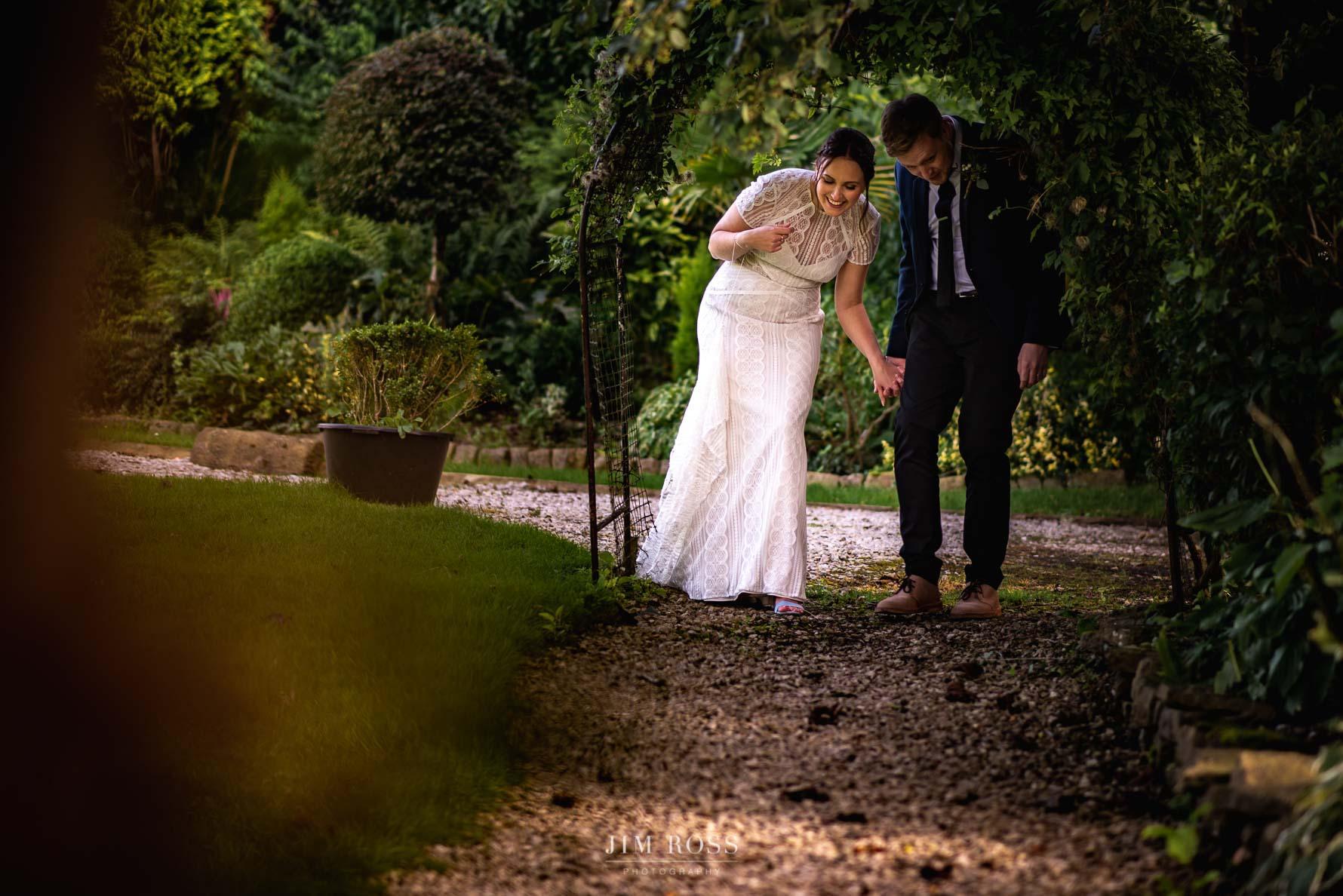 Lancashire wedding garden