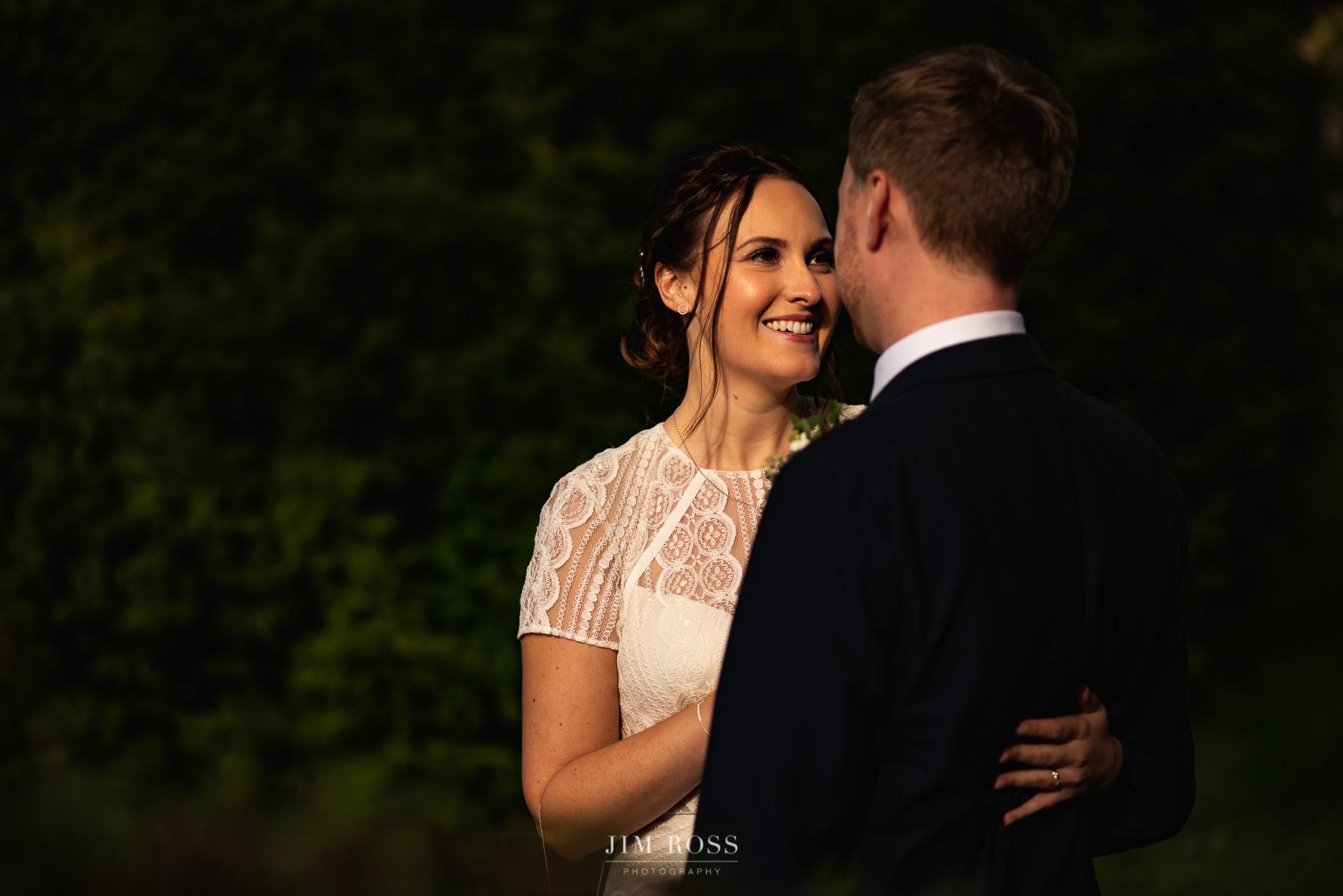 Lancashire wedding evening portrait