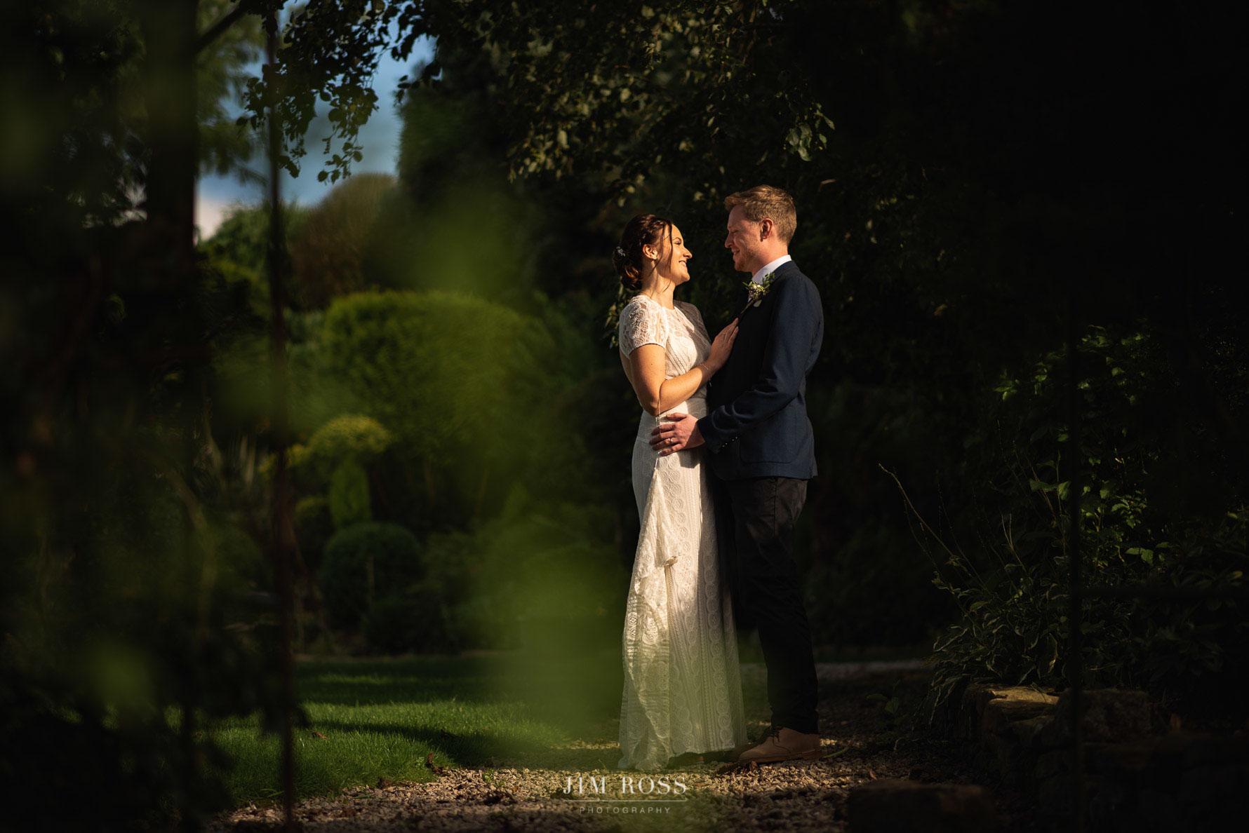 Milnrow wedding couple portrait
