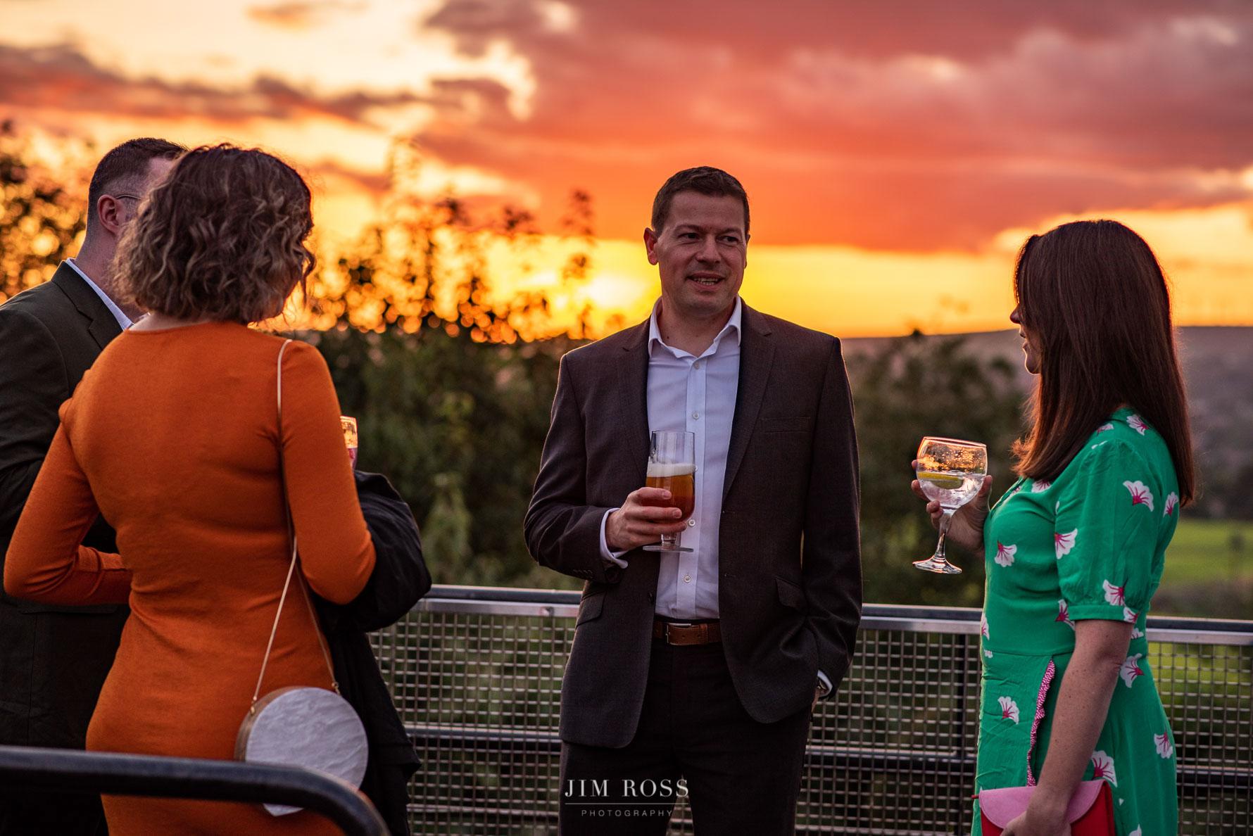 Sunset veranda drinks