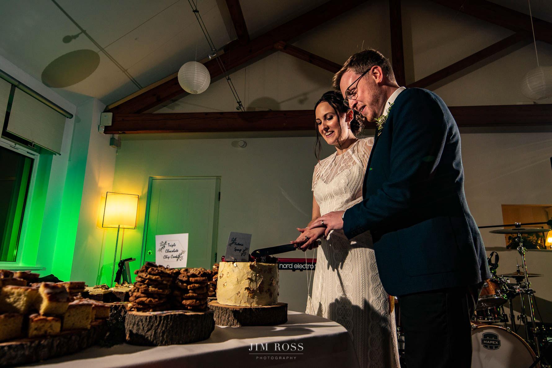 Cutting the cake at Bella Vista Milnrow
