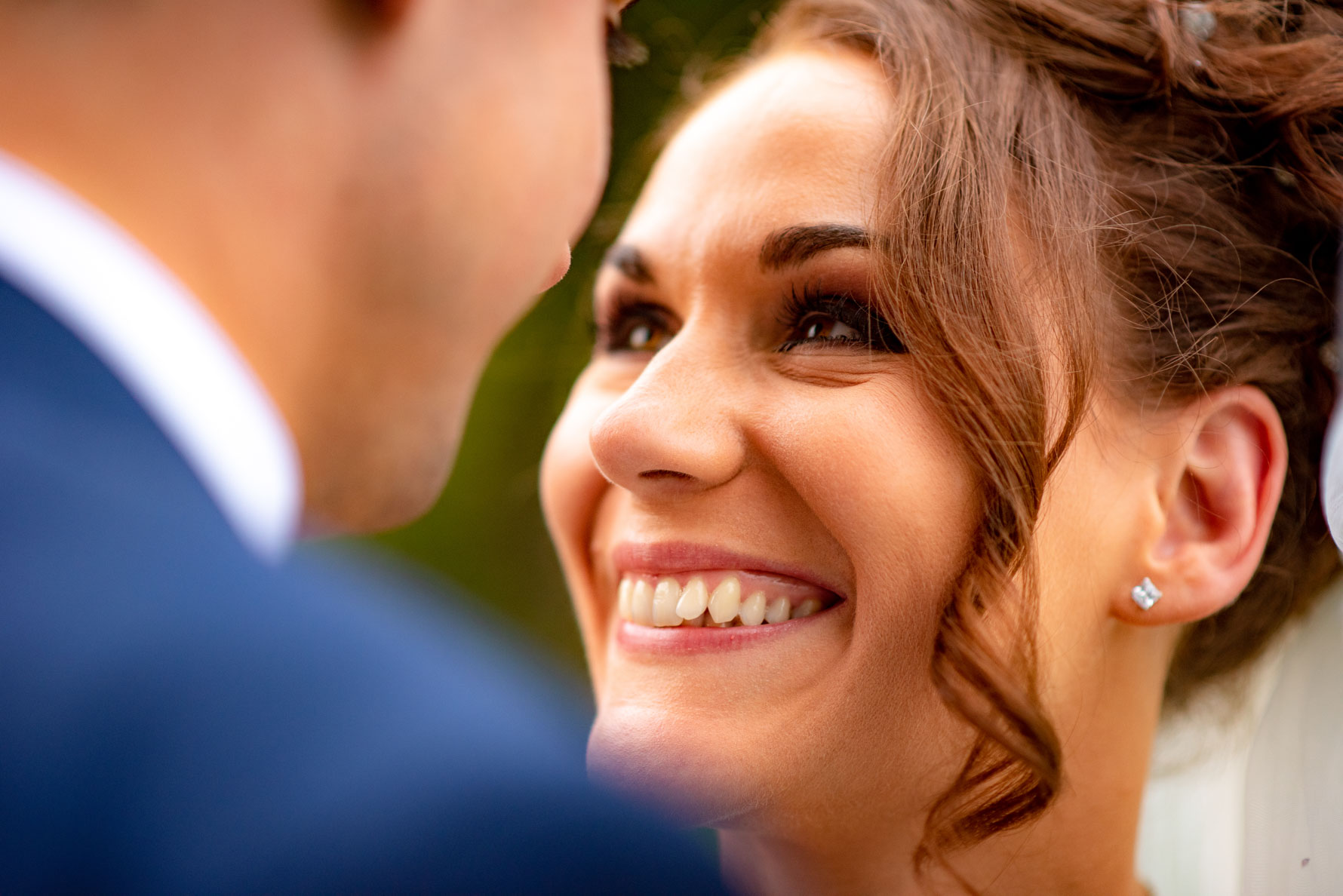 Bride's beaming smile